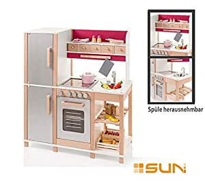 sun spielk che aus holz gro e kinderk che natur beere by woodinis spielplatz. Black Bedroom Furniture Sets. Home Design Ideas