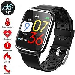 Smart Pulsera Fitness Tracker, IP67Impermeable Reloj Inteligente con Cronómetro, Pulsera Actividad Inteligente para Deporte, Reloj de Fitness con Podómetro Smartwatch para Mujer Hombre niños#9