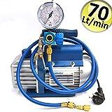 Vakuumpumpe 70 Lt + SCHLÄUCHE + KÄLTEMANOMETER R410A R407C R134A klimaanlage