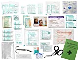 Komplett-Set Erste-Hilfe DIN 13157 EN 13 157 PLUS 1 für Betriebe mit Notfallbeatmungshilfe & Verbandbuch incl.Alkoholtupfer + Pinzette