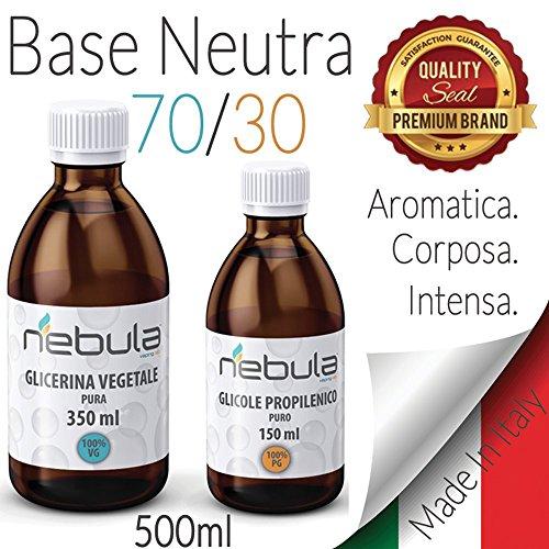 KIT BASE NEUTRA 500 ML 70VG/30PG - GLICOLE PROPILENICO + GLICERINA VEGETALE