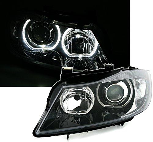 Angel Eyes faro set, Nero, con LED weiãÿen supporto luce occhielli.