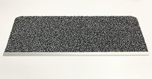 Outdoor Stufenmatte Stufenteppich mit Alu - Stoßkante u. Klebeband 25x65cm