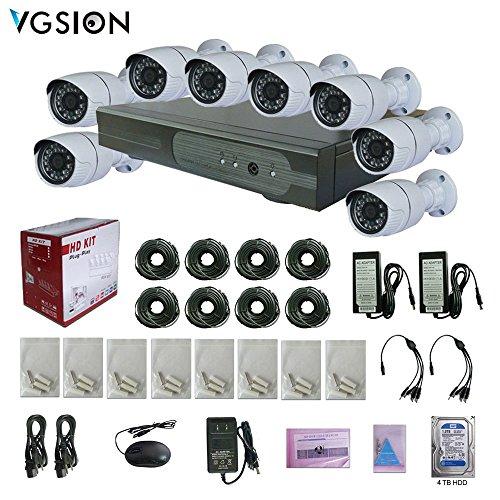 Preisvergleich Produktbild vgsion 8Kamera Sicherheit System Kit mit Power Adapter Kabel 4TB Festplatte Kameras und Video-Blockflöten