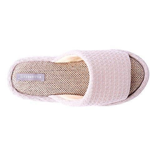 WILLIAM&KATE Fashion Unisex Paar Hausschuhe Casual Anti-Slip Hausschuhe Indoor & Outdoor Slipper Floor Slipper Beige