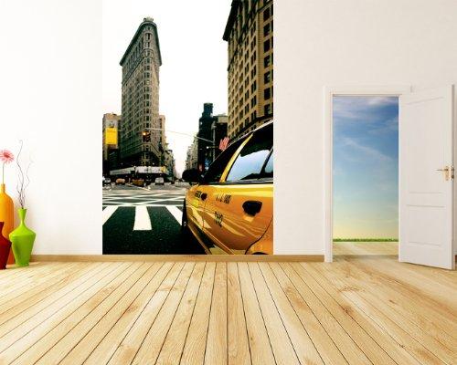 Bilderdepot24 Papier Peint intissé Yellow Cab - New York 65x100 cm - pâte Inclus - Vente directe Fabricant!