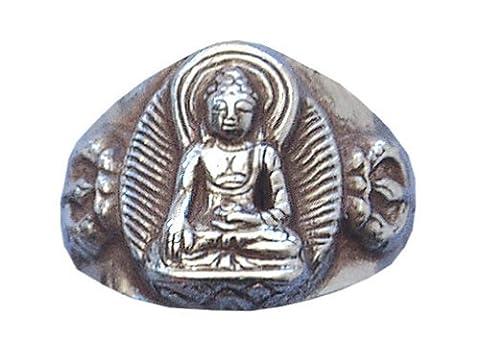 Bague bouddha argent 925/1000 6.2 gr