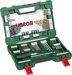 Bosch 91tlg. Bohrer- und Bit Set V-Line Box (Holz, Stein und Metall, Zubehör für Bohr- und Schraubwerkzeuge)