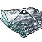 Liul Wasserdicht Plane Transparent420 G Pro Quadratmeter0,3 Mm Dick Pflanzenschuppen Regen Tuch Balkon Im Freien,PVC,9 Größe,1x3m