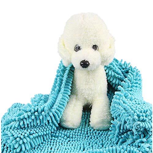 HJUOS Pet Robes Hundetuch weiche Schönheit trockene super absorbierendes Wasser absorbierend, geeignet für Verschiedene Größen von Hundereinigungsbad (blau) Mein Platz-Mikrofaser Chenille Trocknung -