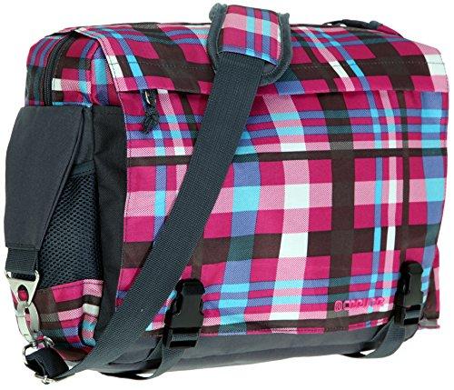 CEEVEE Schultertasche MANCHESTER mit Laptopfach [34 x 28 cm] Messenger Tasche Vogue + Trinkflasche CO2 / CARO PINK