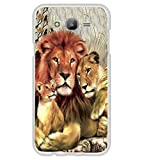 PrintVisa Perfect Lion Family High Glossy Metal Designer Back Case Cover for Samsung Galaxy J5 :: Samsung Galaxy J5 Duos :: Samsung Galaxy J5 J500F :: Samsung Galaxy J5 J500FN J500G J500Y J500M