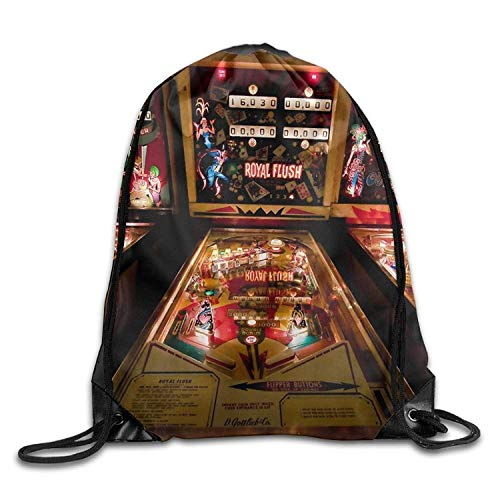 gongsi Pinball Game3D Print Drawstring Backpack Rucksack Small Shoulder Bags Gym BagPrint Drawstring Backpack ()