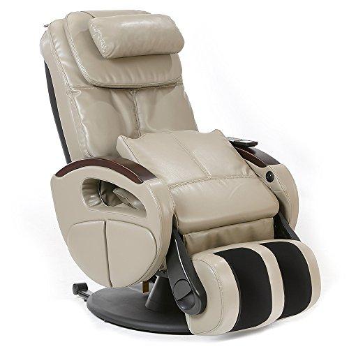 Massagesessel mit elek. Aufstehfunktion, Shiatsu-Massage, Wärmefunktion, 4 Massagetechniken, 6 Massagezonen, Transportrollen, inkl. Kopf- & Nackenkissen (Schilf)