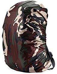 Cuckoo 70L Nylon impermeable Mochila Cubierta de lluvia mochila Resistir a la agua Cubierta de peso ligero paquete de senderismo Camping Viajes Actividades al aire libre, camuflaje