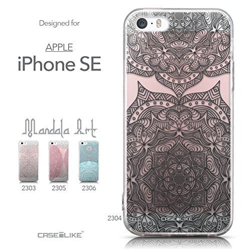 CASEiLIKE Art Mandala 2090 Housse Étui UltraSlim Bumper et Back for Apple iPhone SE +Protecteur d'écran+Stylets rétractables (couleur aléatoire) 2304