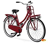Hooptec Damen Hollandrad 28 Zoll Hoopetec Urban Transportfiets Feuerrot 2019