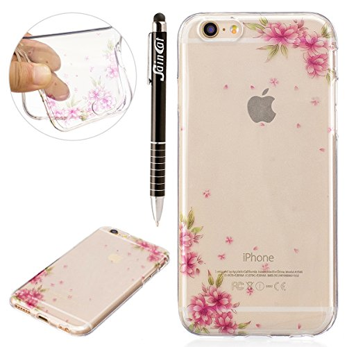 Custodia iPhone 6 Plus, iPhone 6S Plus Cover Silicone Trasparente, SainCat Cover per iPhone 6/6S Plus Custodia Silicone Morbido, Shock-Absorption Custodia Ultra Slim Transparent Silicone Case Ultra So Colore Ananas