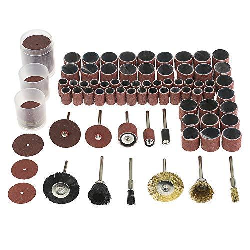 AGGER 150pcs bande de ponçage manchon de tambour 120 grains / laiton fil d'acier brosse de roue polissage nettoyage outil rotatif / disques abrasifs