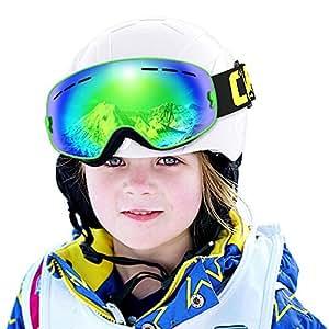 ab0cac3d39d3 COPOZZ Kids Ski Goggles