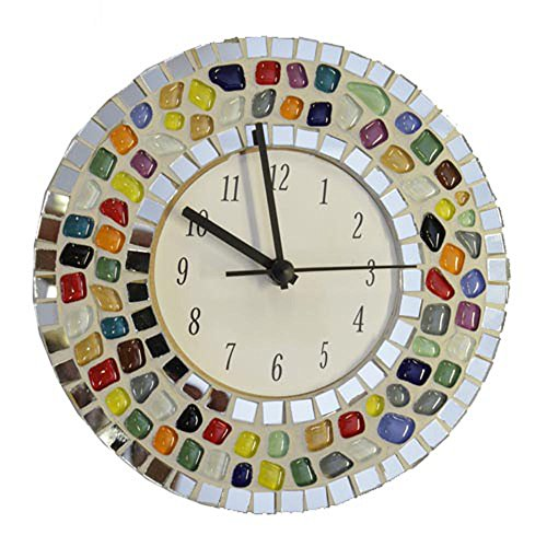 Mosaic Clock Kit, Complete with glass tiles and clock mechanism. No cutting required.