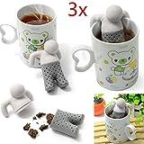 Lot de 3en silicone Infuseur de thé, Mr. Tea Infuseur à thé en silicone