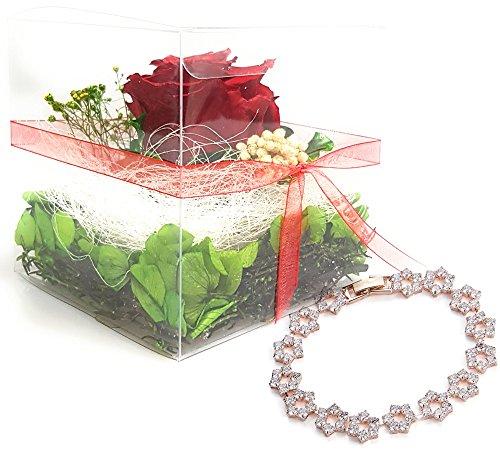 Das Geschenk für den Muttertag - Flower-Box Set INKLUSIVE Schmuck – Haltbare Rose
