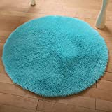 Regard Natral Douce Shaggy Surface Ronde Tapis Salon Tapis Chambre Tapis Tapis
