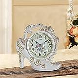 MOMO Tischuhr Europäischen Stil Retro Glocke Uhr High Heels Kreative Uhr Mode Persönlichkeit Uhr Wohnzimmer Antike Uhr,CCC