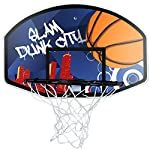 BASKETBALL SET WITH 45CM HOOP NET 90CM BACKBOARD & SIZE 7 BALL