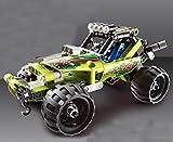 Modbrix Technik Pull Back Desert Racer Bausteine Auto Konstruktionsspielzeug mit 148 Teilen