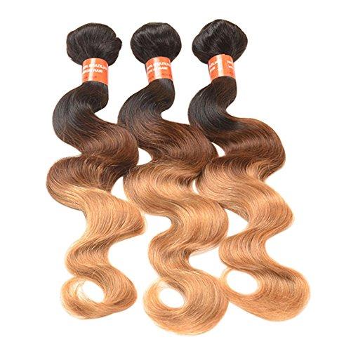 Bluelans 100% cheveux brésiliens 3 lots Body Wave Plusieurs choix 10–55,9 cm brésiliens vierges Extensions de cheveux cheveux bouclés Trame de cheveux Couleur Ombre pour femme
