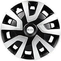 Michelin 92021Tapacubos Denise para Transporter, Van y caravanas, 4piezas, 40,6cm reflector Sistema n.v.s, Plata de Negro, 4unidades, 16pulgadas