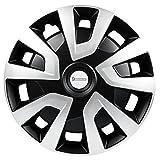 Michelin 92020 Radzierblenden Denise für Transporter, Van und Wohnmobile, 4-Teilig, 38,1 cm Reflektorsystem N.V.S, Silber-Schwarz, 4-Er Set, 15 Zoll