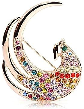 J & F - Damen-Brosche Phénix mit Swarovski Kristallen, Rosagold