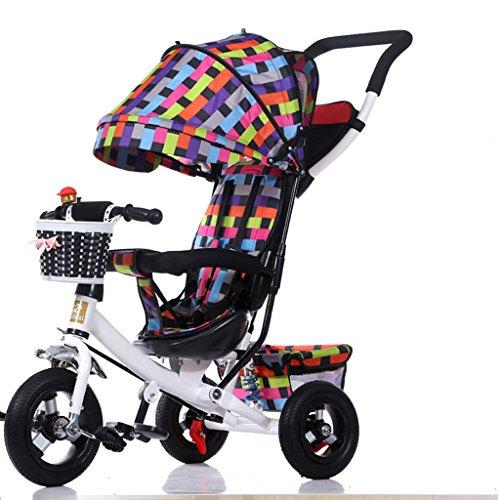 XXW Kinderwagen Mode mit Sonnenschirm Kinderwagen Falten Kinder Dreirad 1-3-5 Jahr alt Kinder Pedal Trike Fahrrad Wagen (Color : C)