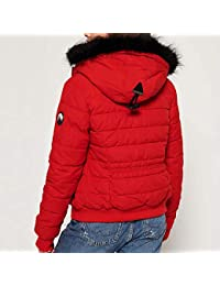 b8e0b733abfb Superdry Doudoune Microfibre Toggle Puffer Red