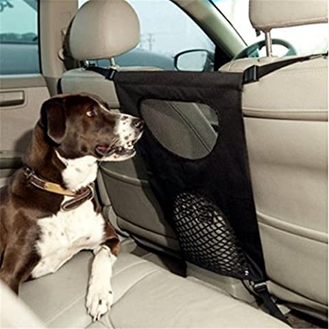 Dog Car Back Seat Barrier - Lightweight, Durable & Perfect for Pet Car Pet Fence isolation protection dog car barrier-Car Pet Supplies for Backseat Dog Safety(46*69cm Pet Fence)