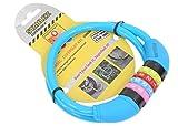 Stahlex Ø10mm/65cm Fahrradschloss | Nur 230g | Kabelschloss mit Zahlenschloss | Das Erste Echte Fahrradschloss für Ihr Kind (Blau)