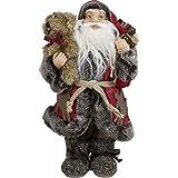 JEMIDI Handgefertigte Weihnachtsmann Figuren Nikolaus Deko Figur Dekofigur Weihnachtsmänner Stal