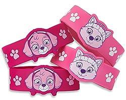 American Greetings PAW Patrol Pink Rubber Bracelets (4 Count)