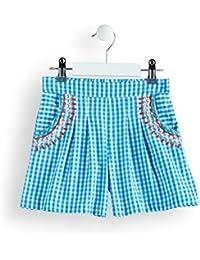RED WAGON Shorts de Cuadros con Bordados Niña