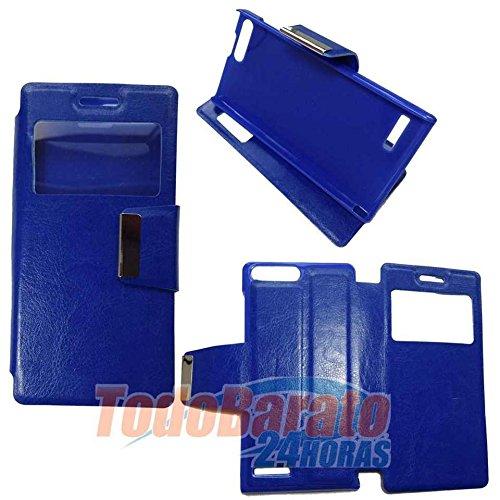 Todobarato24h Funda Libro Ventana Azul Huawei Ascend G6 4G Orange Gova