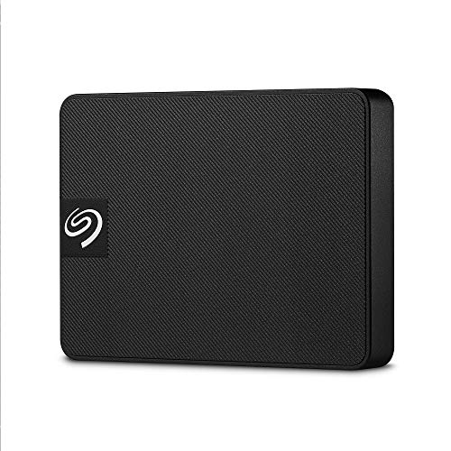 Seagate Expansion SSD tragbare externe SSD (6,3 cm (2,5 Zoll) 500 GB, USB 3.0, PC und Mac) black