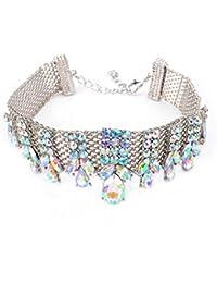 293c53bd9f99 dama Moda exagerado Gargantilla Cuello de babero Collar elegante Cadena  clavicular Bisutería para mujer · EUR 19