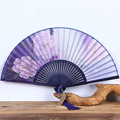 Kirche Passenden Kostüm - XIAOHAIZI Handfächer,Bambussteigungshintergrundbetriebspfingstrosenblumenweinleseseidenfächer Der Chinesischen Art des