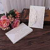 Tiyee Hochzeitseinladungskarten Set mit Umschlägen, personalisierter Druck, 10 Stück