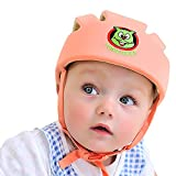 ABUSA Infant Baby Toddler Safety Helmet Kids Head Protection Hat for Biking Walking Crawling - Salmon