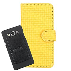 DooDa PU Leather Wallet Flip Case Cover With Card & ID Slots For Intex Cloud Y4 - Back Cover Not Included Peel And Paste