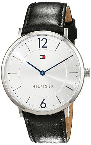 Tommy Hilfiger Herren Analog Quarz Uhr mit Leder Armband 1710351